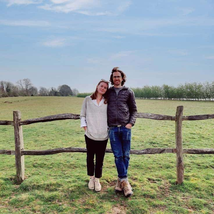 Laure and Keivor at High View Farm